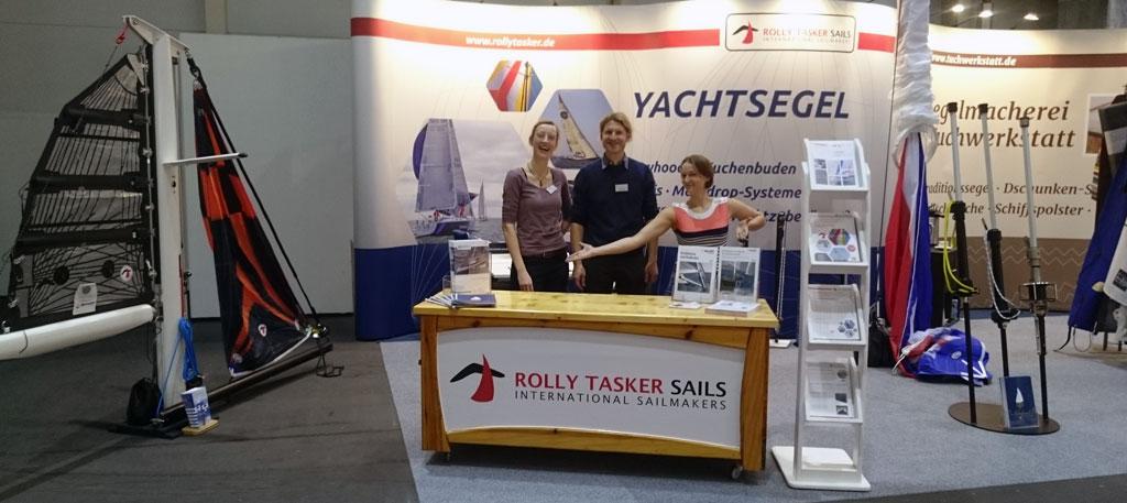 Messestand Rolly Tasker Sails auf der Boot Hamburg