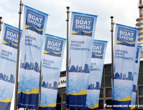 Rolly Tasker Sails auf der Hamburg Boat Show
