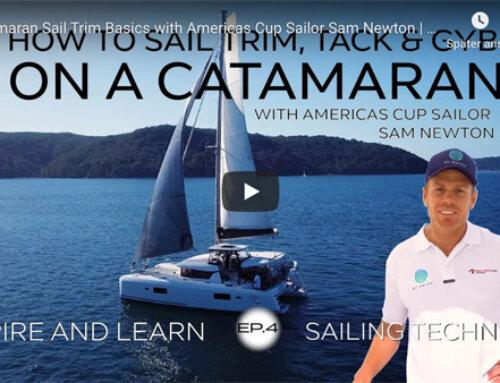 Catamaran Sail trim and handling